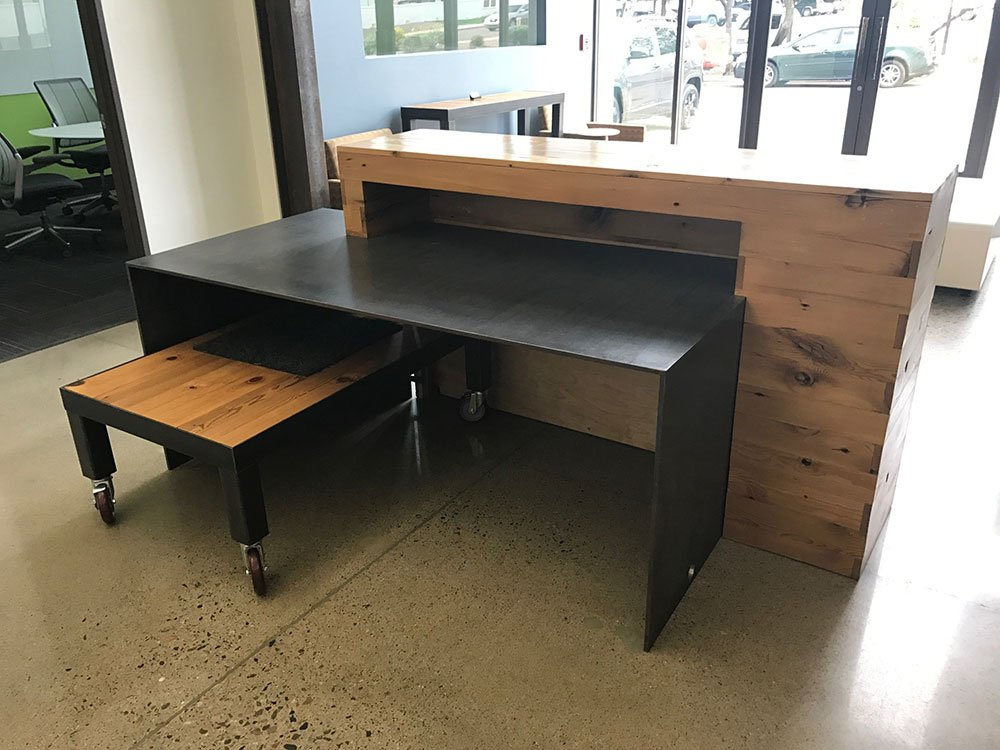 Custom Steel Reception Desk Phoenix